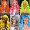 orange body wave lace front wig